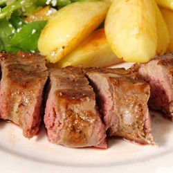 Oven Roasted Goat Meat with Potatoes