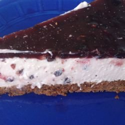 Blueberry Cheesecake with Cream