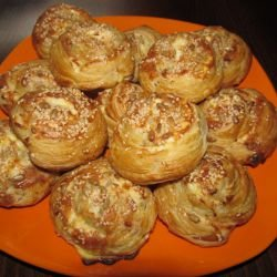 Puff Pastries with Feta Cheese and Seeds