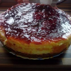 Cheesecake with Jam and Cream