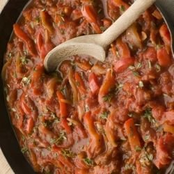 Roasted Peppers with Parsley