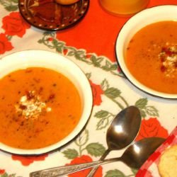 Cream Soup with Feta Cheese