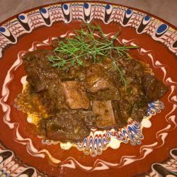 Meat with White Wine