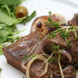 Pork Liver with Red Wine