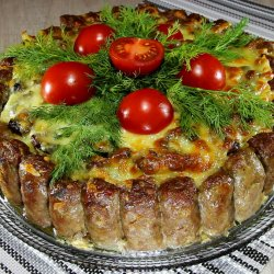 Man`s Cake (Salty Cake with Cevapcici)