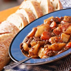 Beef and Potatoes with Peppers
