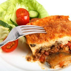 Zucchini Moussaka with Peppers
