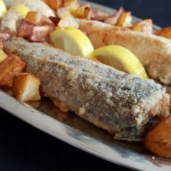 Fried Fish with Breadcrumbs