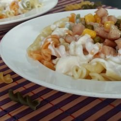 Macaroni with Chicken Fillet