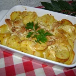 Chicken Fillet with Potatoes and Mayonnaise