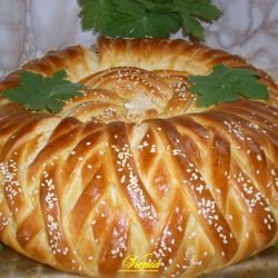 Aromatic Round Loaf with Processed Cheese