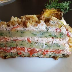 Salty Cake with Zucchini Layers