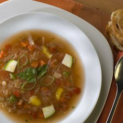 Broth and Stock with Vermicelli