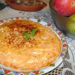Spaghetti-Omelette with Sauce