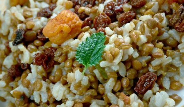 Pilaf with Lentils and Chicken