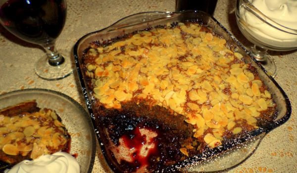 Bakewell Pudding with Blackberries