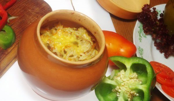 Vienna Sausages and Cheese in a Clay Pot