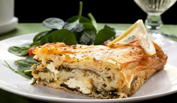 Phyllo Pastry with Dock and Feta Cheese