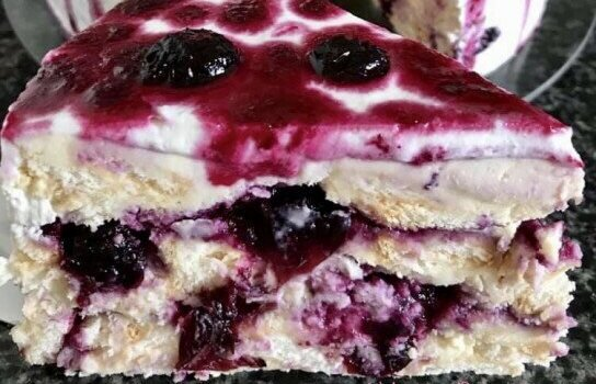 Incredible Blueberry and Mascarpone Biscuit Cake