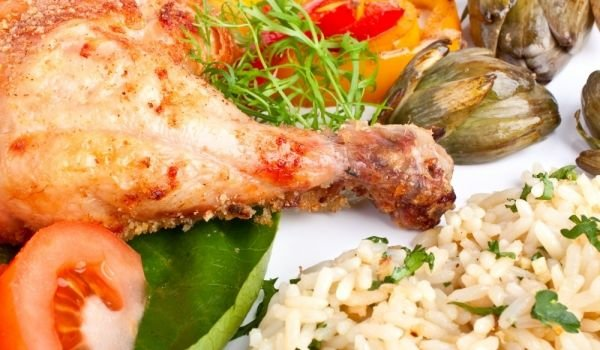 Turkey drumsticks with rice