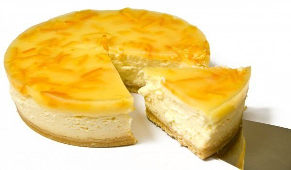 American Cheesecake with Lemon Rind