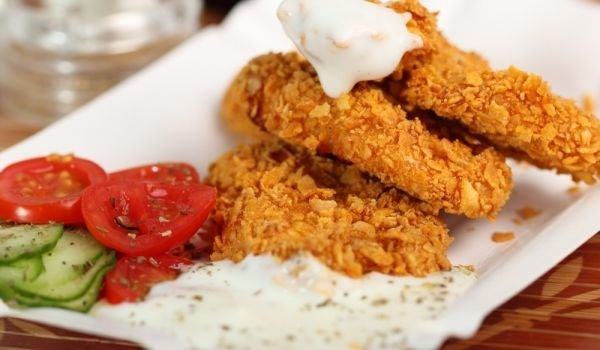 Chicken Fillets with Cornflakes in the Oven