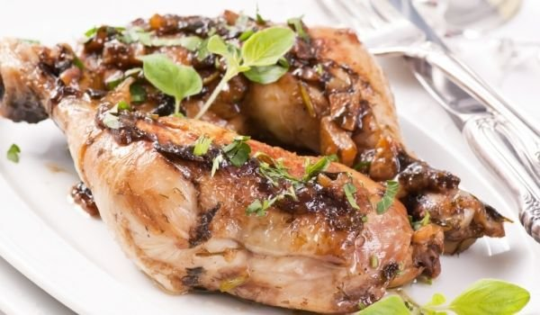 Grilled Chicken with Olive Oil and Oregano