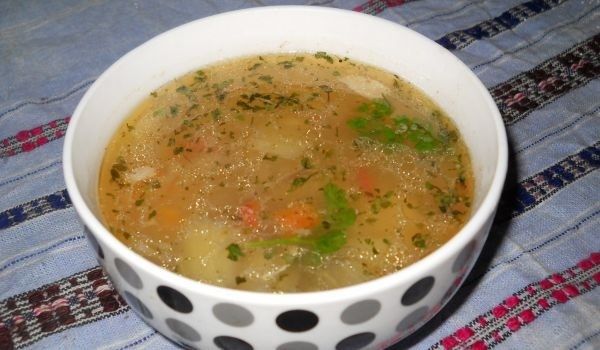 Chicken Soup with Eggplant
