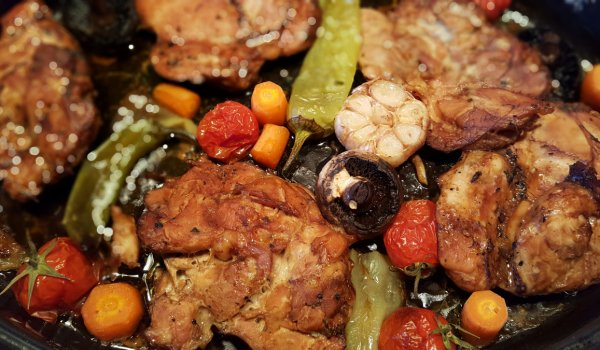 Oven Baked Marinated Chicken Steaks