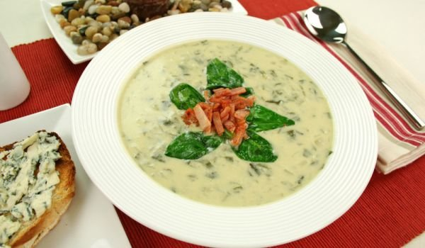 Chowder with Chicken and Spinach