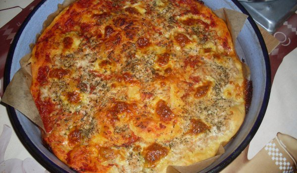Homemade Pizza with Sausages