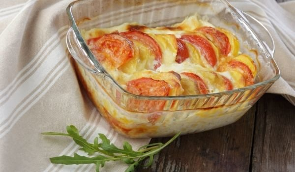 Gratin with Mozzarella