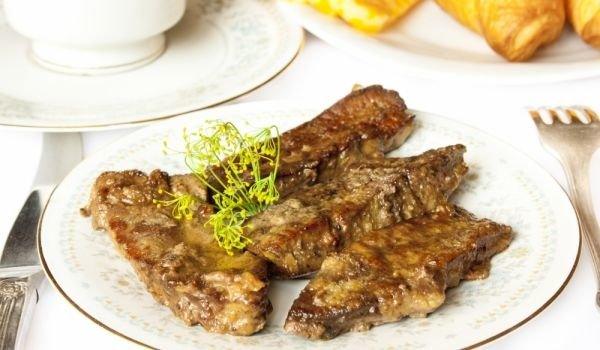 Grilled Liver with Apples