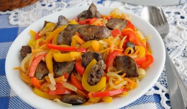 Livers with Peppers