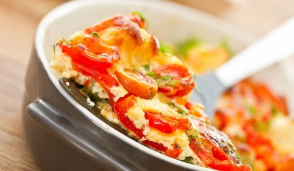 Eggs with Feta Cheese and Peppers