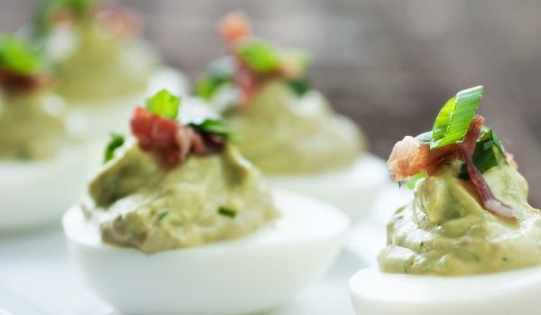 Party Eggs with Avocado