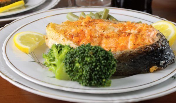 Salmon Steak in the Oven
