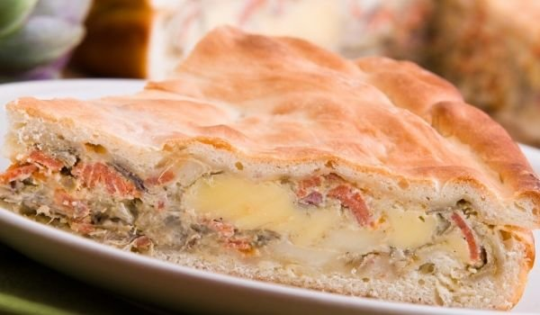 Focaccia with Mushrooms and Cheese