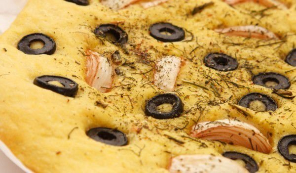 Greek Bread with Olives