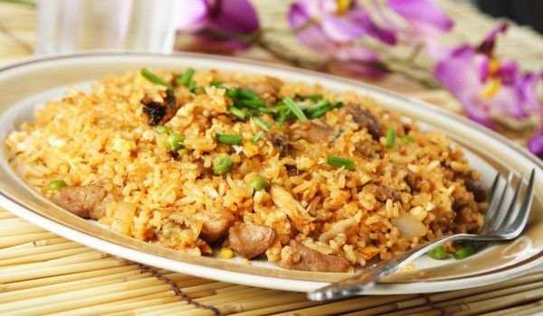 Rice with Mushrooms in the Oven
