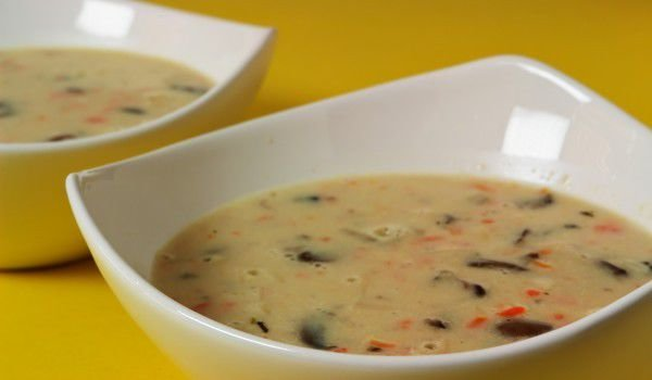 Cream Soup with Potatoes and Mushrooms