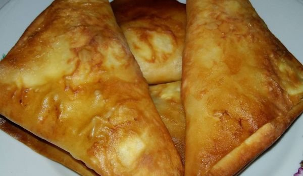Large Phyllo Pastries with Feta Cheese and Butter