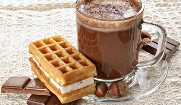 Waffles with White Cream
