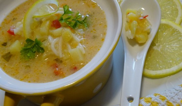 The Most Delicious Potato Soup with Liaison