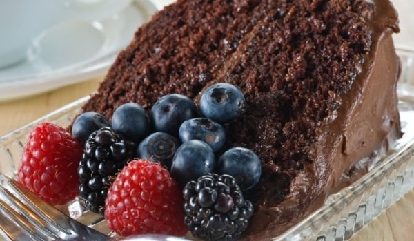 Holiday Chocolate Cake with Liqueur