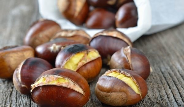 baked chestnuts