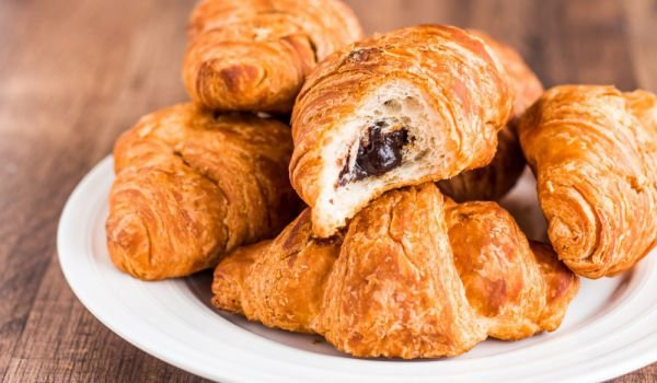 Homemade Croissants with Walnuts and Chocolate