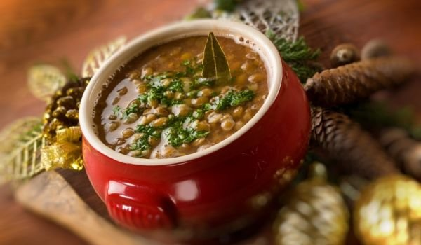 Lentils with Red Wine