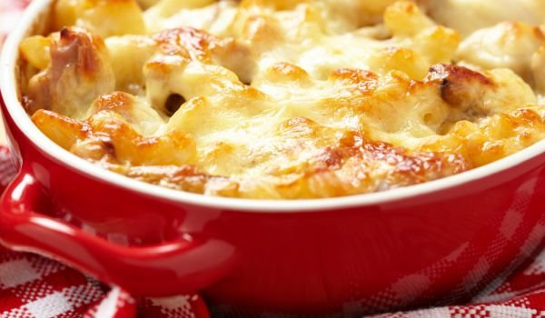 Mac and Cheese with Mushrooms and Ham