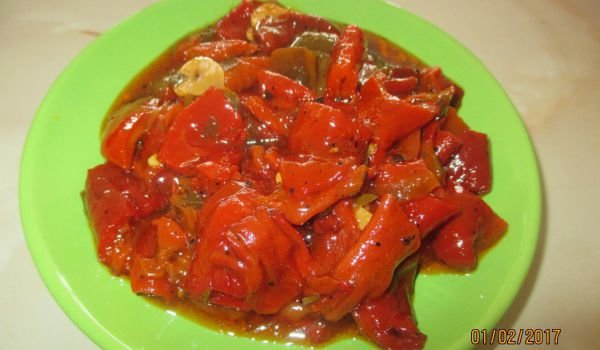 Marinated and Roasted Red Peppers